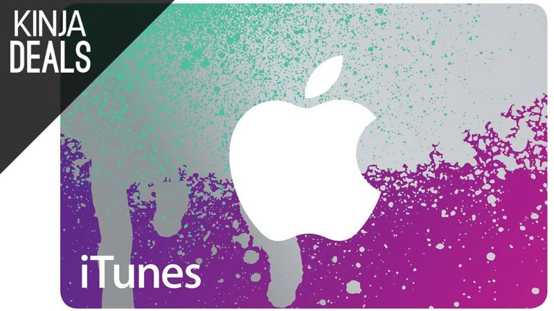 Illustration for article titled 25% off iTunes Credit, Plus More Gift Card Deals