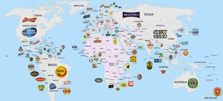 Illustration for article titled The world's most popular beers in one neat map
