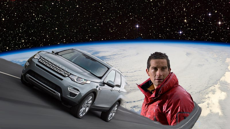 Illustration for article titled Land Rover Is Sending Piss-Drinking Bug-Eater Bear Grylls To Space