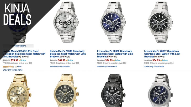 Illustration for article titled These Great Looking Invicta Watches Start at $60, Today Only