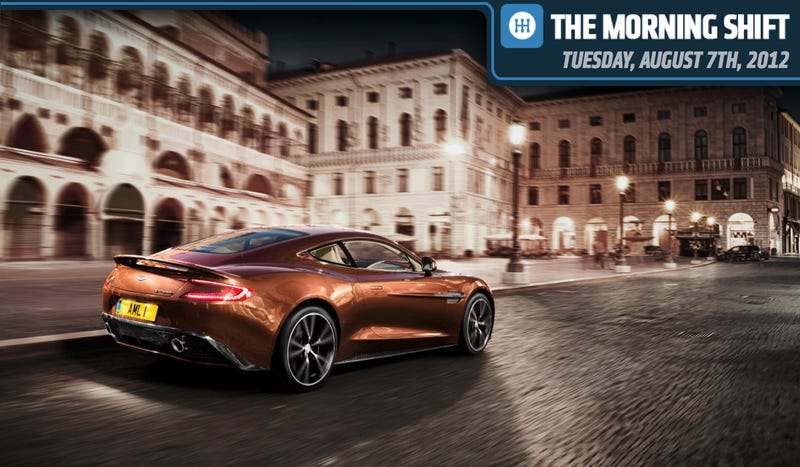 Illustration for article titled Aston Martin Vanquish Goes To Monterey, BMW Goes South, And Ford Wants To Go Cheap