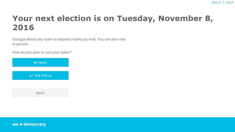 Illustration for article titled TurboVote Helps You Register and Notifies You About Upcoming Elections