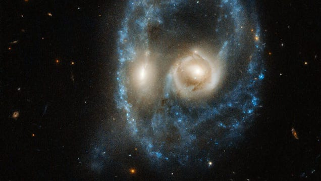 Hubble Spots a Ghoulish  Face  in the Depths of Space