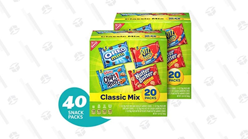 Nabisco Classic Cookie & Cracker Variety Packs, 40 Count | $9 | Amazon