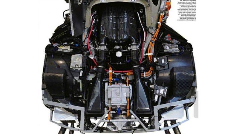 Illustration for article titled Is This The Ferrari F70's 900 Horsepower Hybrid Engine?