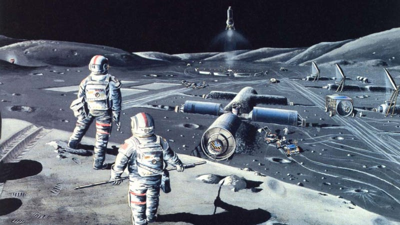 Illustration for article titled Newt Gingrich is right: We need a permanent Moonbase