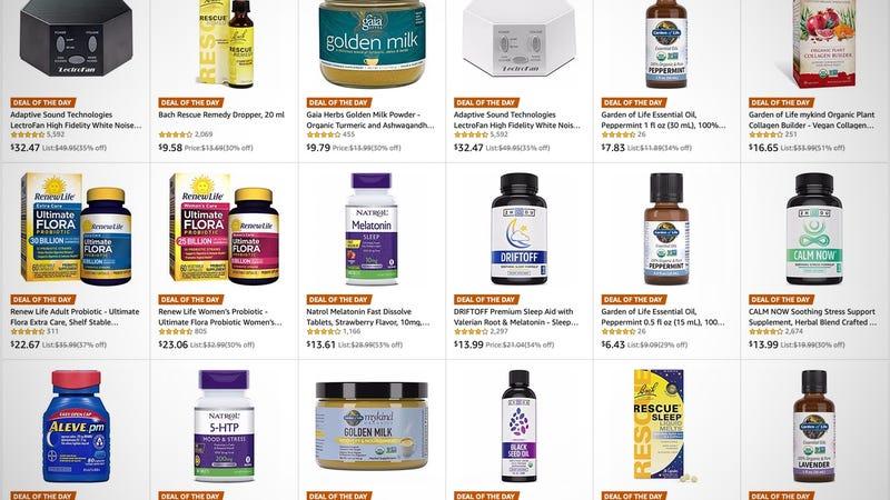 Sleep Aid Gold Box | Amazon