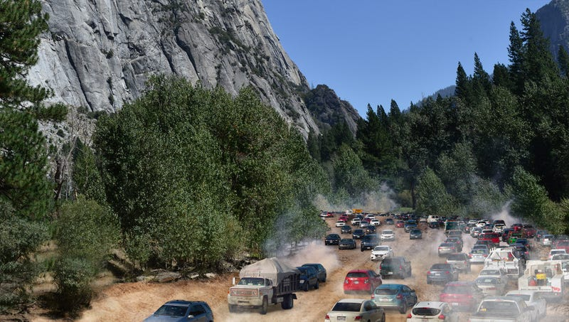 Illustration for article titled Yosemite National Park Completes Construction On New 6-Lane Scenic Driving Trail