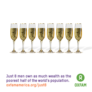 Oxfam's official messaging