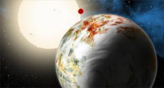 """Illustration for article titled Astrónomos descubren un nuevo tipo de planeta: la """"Mega Tierra"""""""