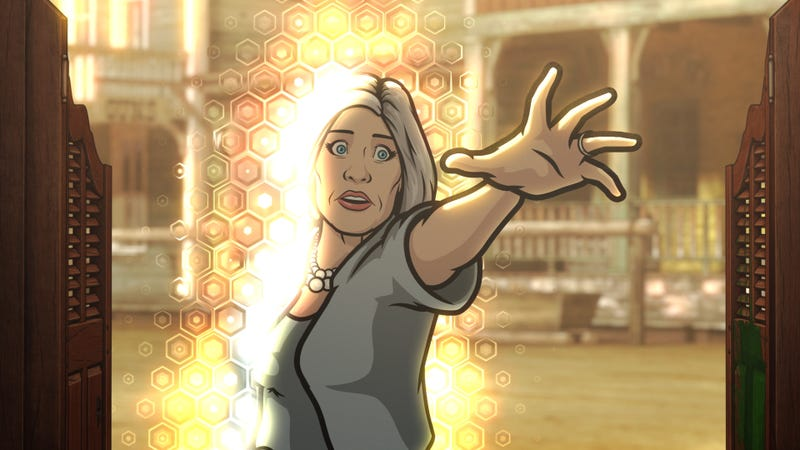 Malory Archer (Jessica Walter) moves between worlds in the season 10 finale.