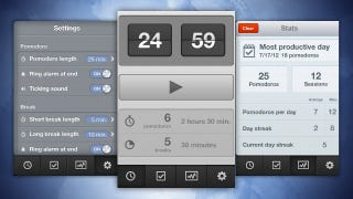 Illustration for article titled Promodoro for iPhone Is a Simple, Flexible Pomodoro Timer that Tracks Your Productivity