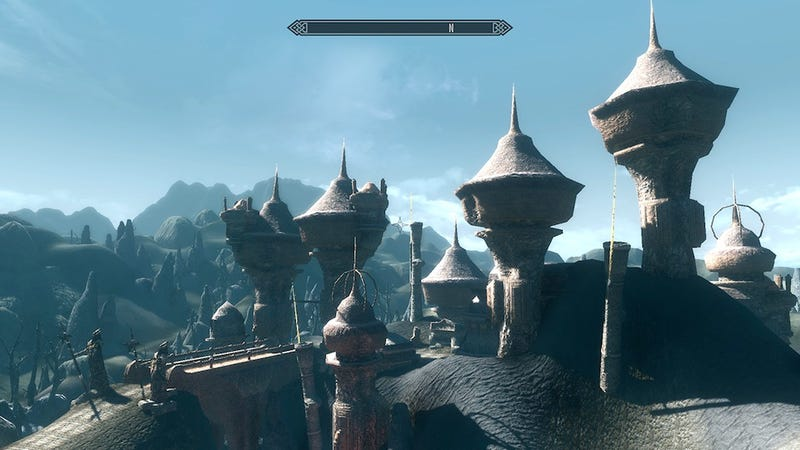 Illustration for article titled Morrowind Modded Into Skyrim Is Something You Must See