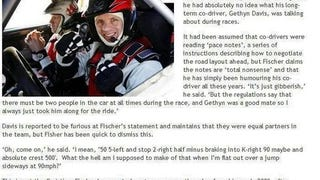 Rally driver admits he has no idea what co-driver is talking about