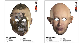 Illustration for article titled Broken Game Faces Inspire Awesome Halloween Masks