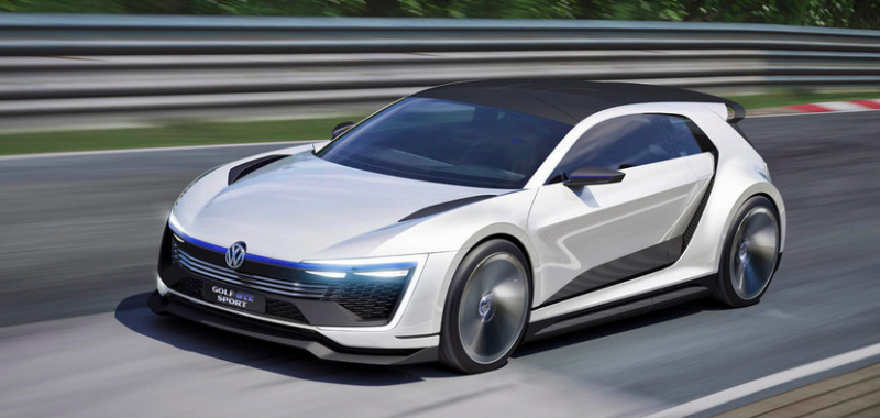 Pictured Volkswagen Golf Gte Sport Concept