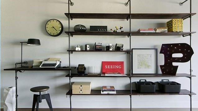 Build a Beautiful Shelving Unit and Desk Out of Pipes