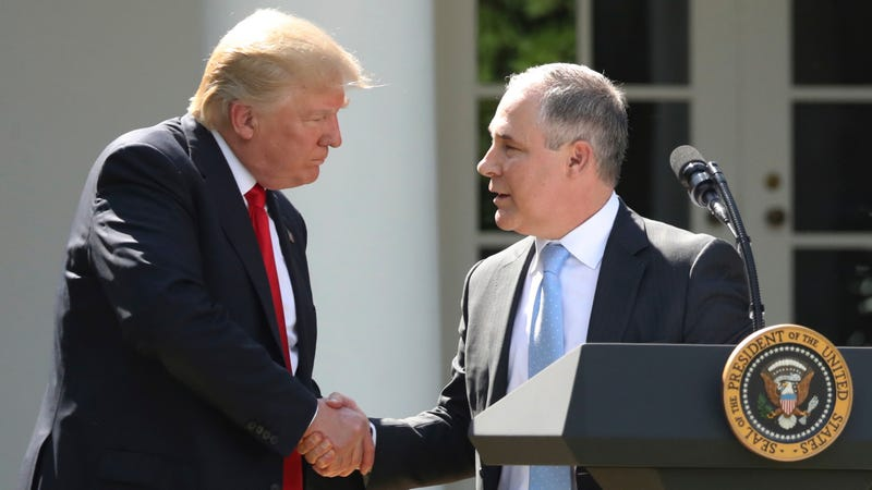 The President and EPA Administrator Scott Pruitt (Image: AP)
