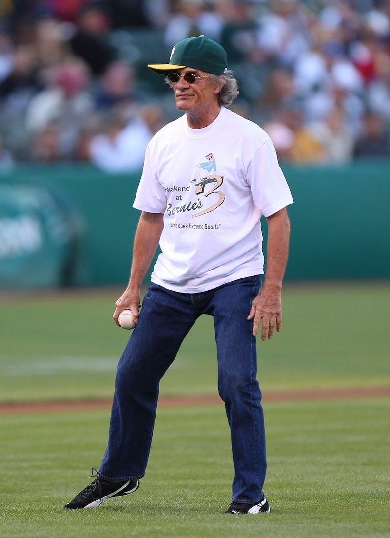 Illustration for article titled Bernie, Of Weekend At Bernie's Fame, Threw Out The First Pitch In Oakland This Weekend