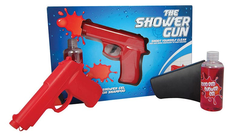 Illustration for article titled Shower Gun Lets You Blast Away Filth