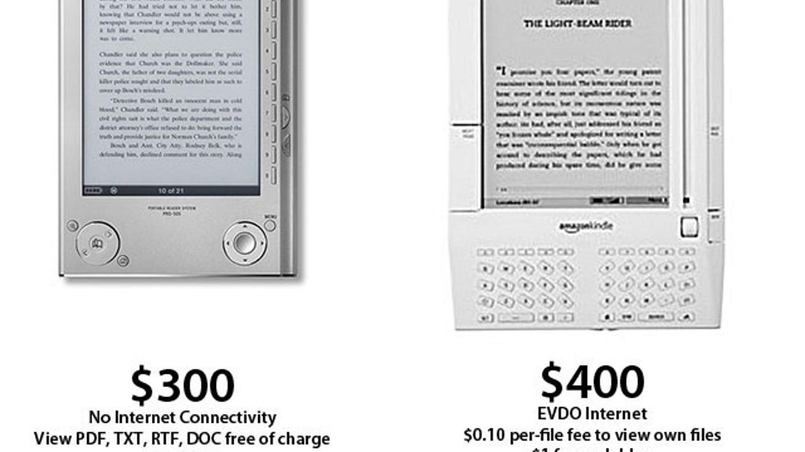 Kindle Vs Sony Reader: Amazon Kindle Vs Sony Reader Bitchfight