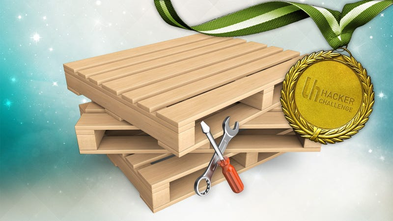 Illustration for article titled Hacker Challenge: Hack Something Using Wooden Pallets