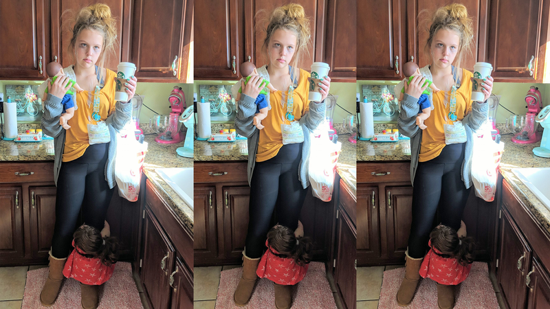 Teenager Dresses Up As Tired Mom For Halloween