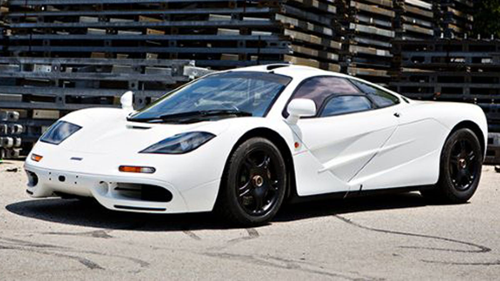 this unique white mclaren f1 could sell for $14 million
