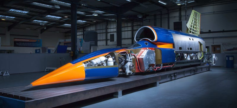 Illustration for article titled Bloodhound SSC: This 1,000 MPH Rocket Is The World's Most Powerful Car