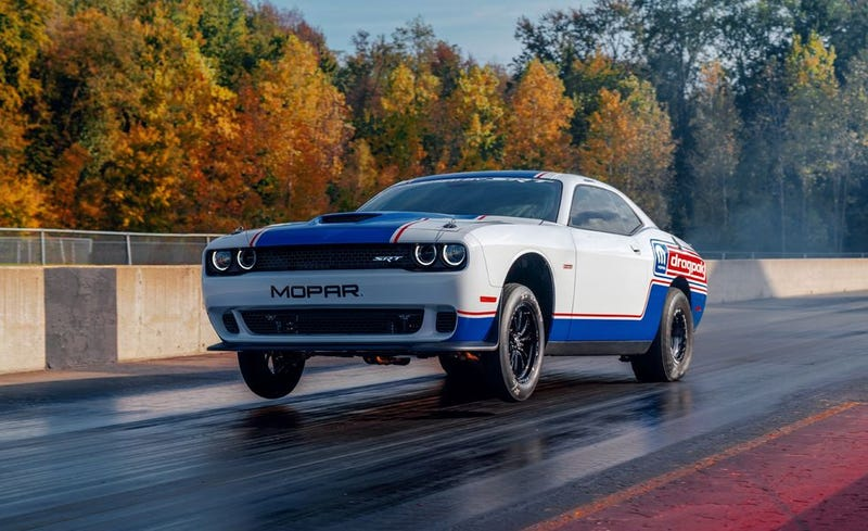 Illustration for article titled The 2020 Dodge Challenger Drag Pak Will Allow 50 People To Run 7s