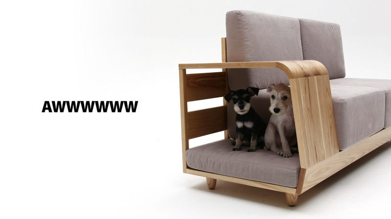 Illustration for article titled This Sofa With Attached Dog House Is One Perfect Idea