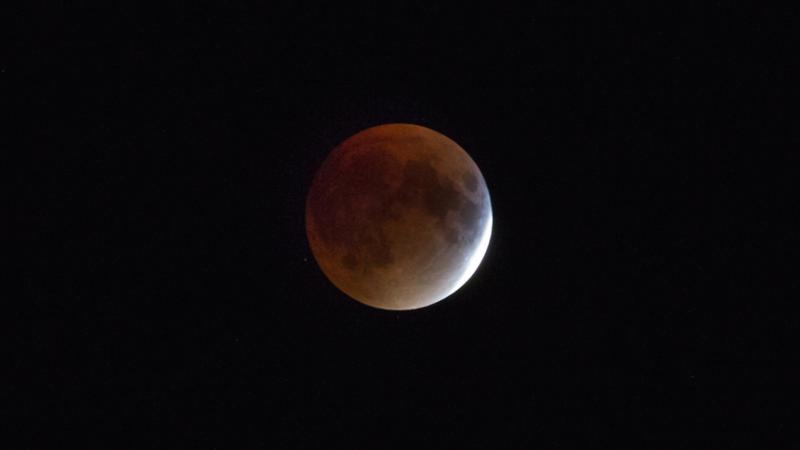 Superluna de sangre que se vio en Canadá en septiembre de 2015. Foto: Dany_M/Flickr.