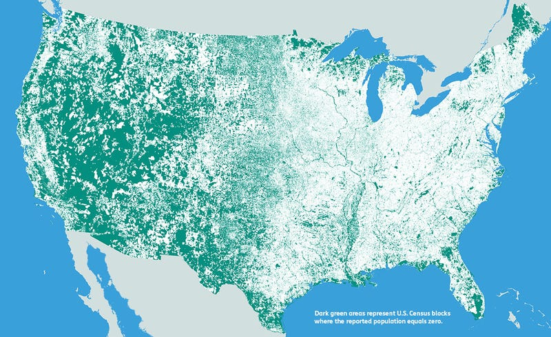 How You Count Matters Maps Of Census Data In The US - Google map us population density map by county