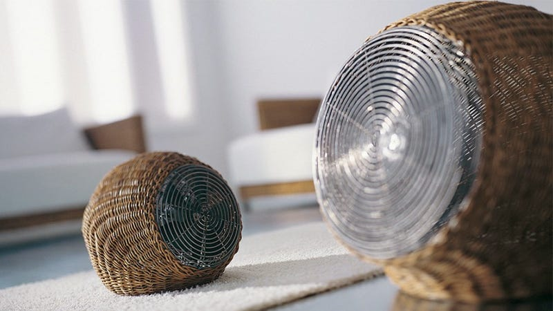 Illustration for article titled An Inconspicuous Wicker Fan That Blends In With Your Cottage Decor