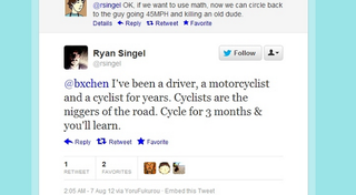 Illustration for article titled Wired Editor Uses Yoko Ono Lyric to Compare Cyclists To Oppressed Black People