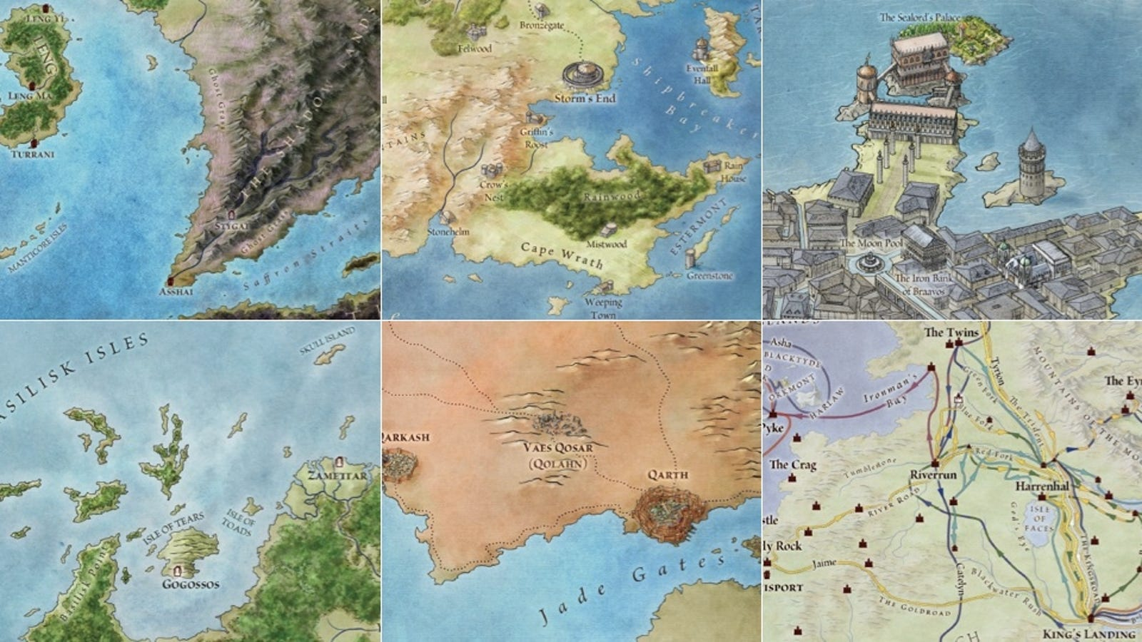 At Last Official Maps Of George Rr Martins World From Westeros