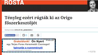 Illustration for article titled Már megint a Cinkig jött a pofonért a Heti Válasz szerkesztője