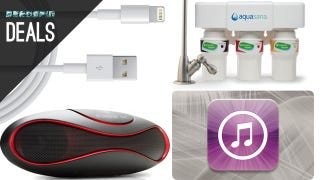 Illustration for article titled Cheaper iTunes Credit, Cleaner Water, Smarter Power Outlets [Deals]