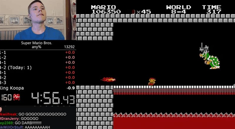 Super Mario Bros. World Record Beaten With Near-Perfect Run