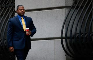 William Porter, one of six Baltimore City police officers charged in connection with the death of Freddie Gray last yearRob Carr/Getty Images