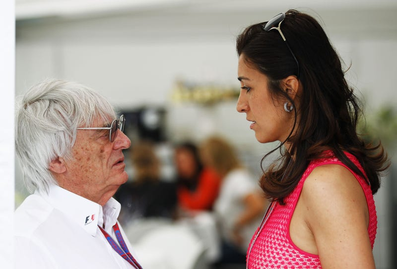 Bernie Ecclestone and wife Fabiana Flosi via Getty Images