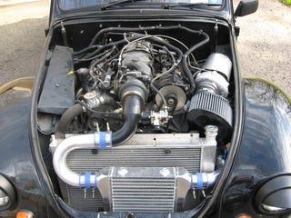 Illustration for article titled Vintage VW Bug Gets Turbocharged V8, Probably One Of The Four Horsemen