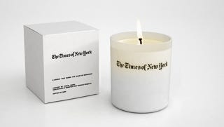 Illustration for article titled New York Times-Scented Candle Is The Only News Fit To Smell