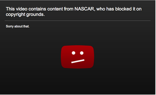 Illustration for article titled YouTube Determines That NASCAR Does Not Have A Copyright On Everything It Claims To Have Copyrighted