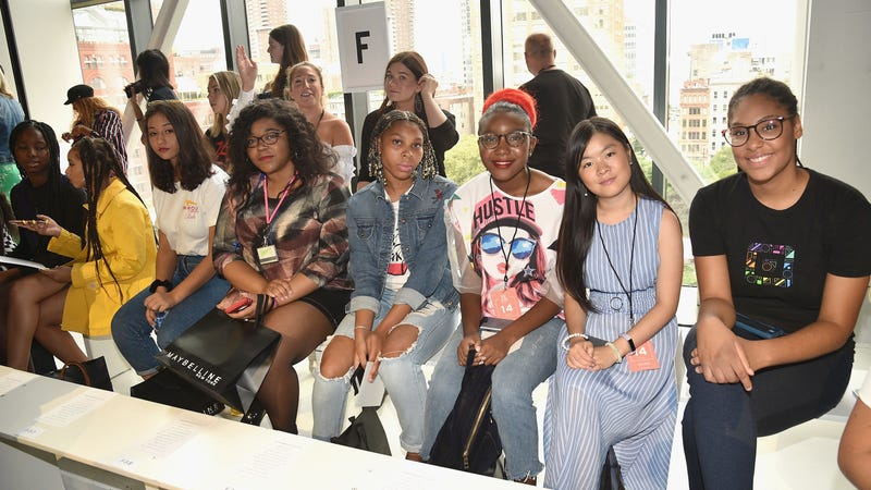 Members of the Lower East Side Girls Club attend the Cushnie show in Gallery I during IMG NYFW: The Shows 2018 on September 7, 2018 in New York City.