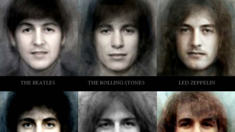 Illustration for article titled This face morph project proves all classic rock bands look alike