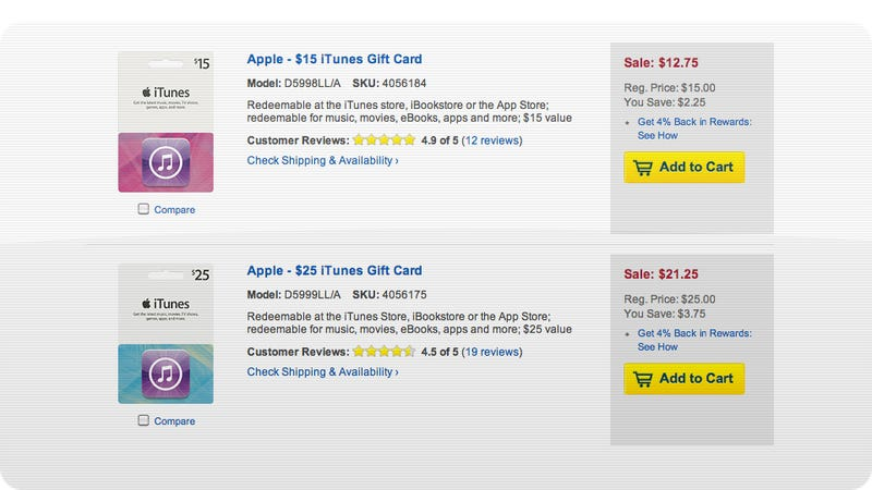Illustration for article titled Best Buy's Got (Slightly Less Than Usual) Free iTunes Money Today