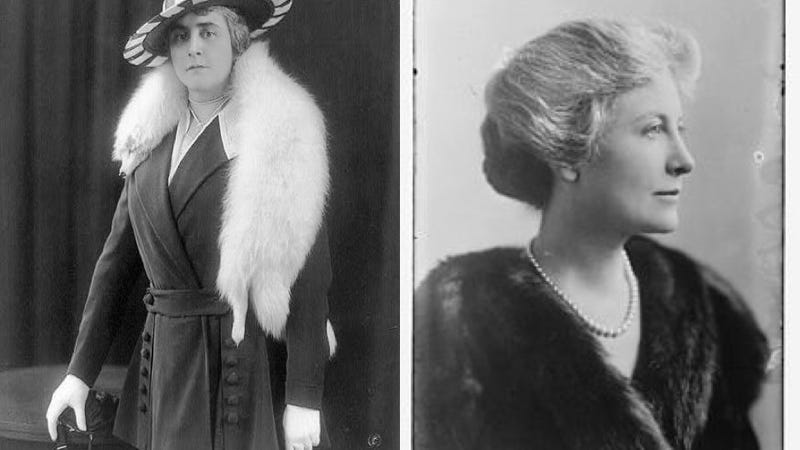 Image of Anne Morgan via the Library of Congress/Image of Eleanor Robson Belmont.