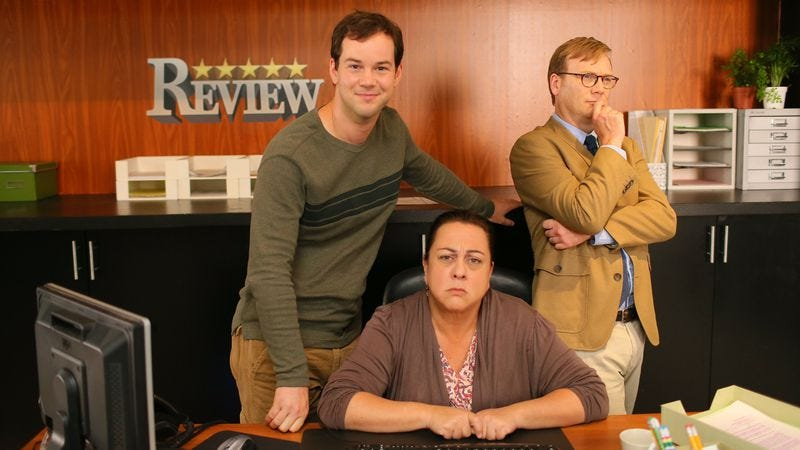 H. Michael Croner (left), Tara Karsian, Andy Daly (Photo: Mark Davis)