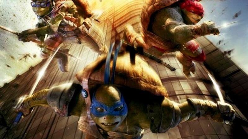Illustration for article titled Teenage Mutant Ninja Turtles poster has totally tubular 9/11 connection